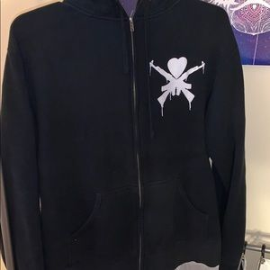 Man Overboard band zip up